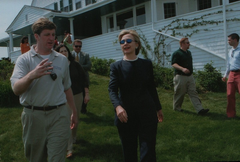 Patrick Kennedy and Hillary Clinton in Hyannis Port
