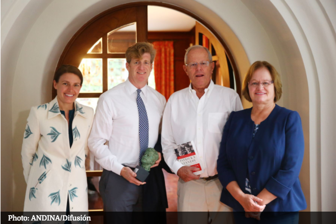 Patrick and Amy Kennedy with Peruvian President Pedro Pablo Kuczynski and First Lady Nancy Lange